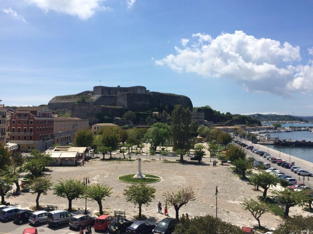Вид на Новый форт Корфу,