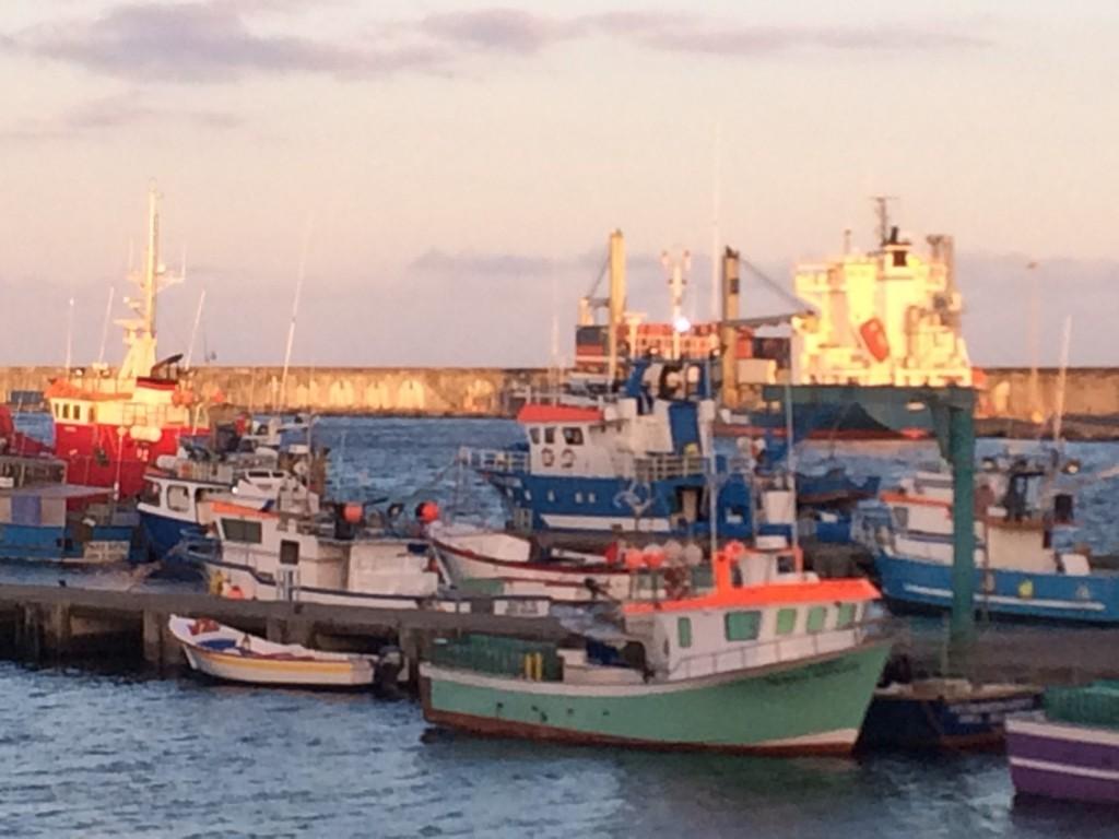 рыбацкие лодки в Ponta Delgada