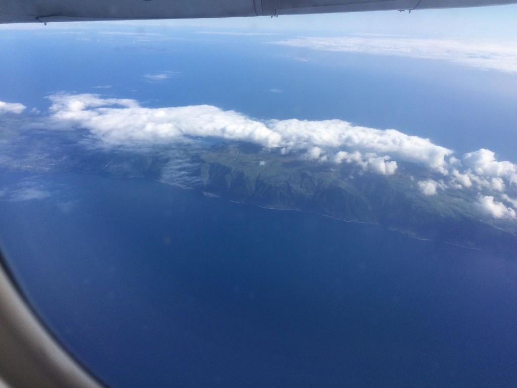 так выглядит Сан Жоржи с  самолета